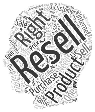 finally: The Resell Rights Gold Mine text background wordcloud concept