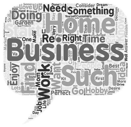 El negocio casero perfecto es lo correcto para que el texto el concepto de fondo wordcloud