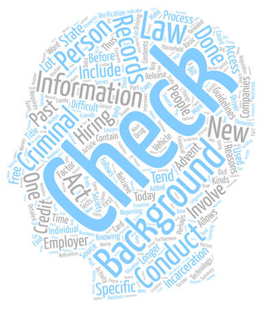 The Past Revealed Background Checks text background wordcloud concept