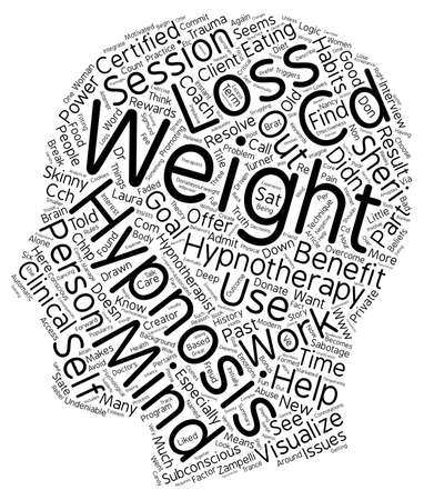 The Skinny On Hypnotherapy text background wordcloud concept