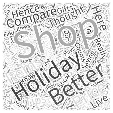 SM saving money during the holidays Word Cloud Concept