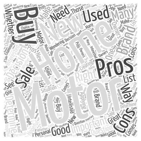 I pro e contro di acquisto di nuove case mobili in vendita Nube Concetto Word