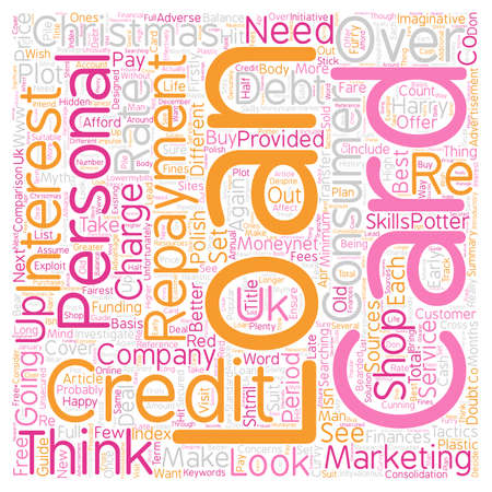 The Myth Of The Christmas Loan text background wordcloud concept