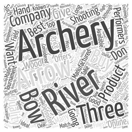 recurve: Three rivers archery Word Cloud Concept
