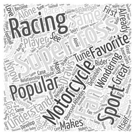 popularity: The Popularity of Supercross Motorcycle Racing Word Cloud Concept