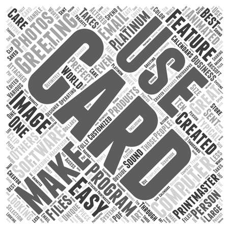 platinum: The Perfect Card Making Computer Software Word Cloud Concept