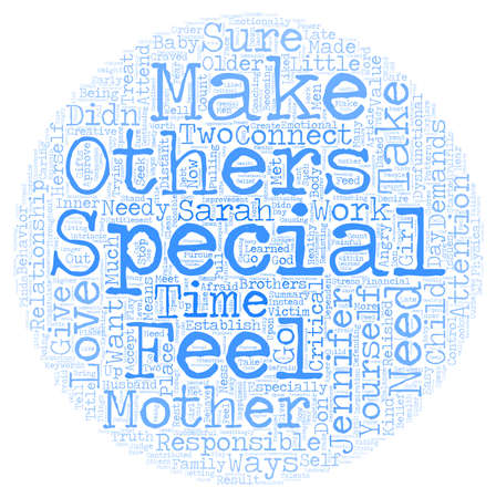The Need to Feel Special text background wordcloud concept
