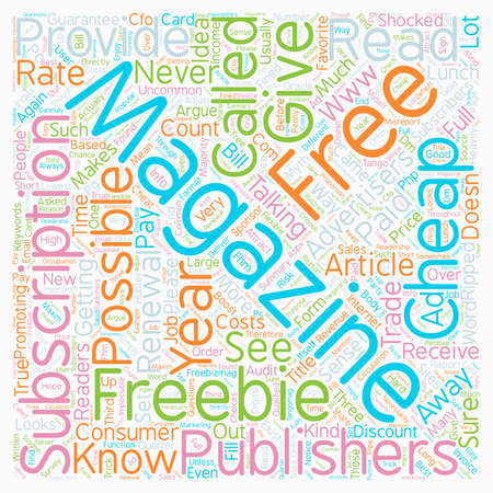 The Myth Of Free Magazine text background wordcloud concept