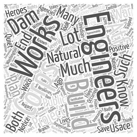 corps: The Quiet Heroes The Corps of Engineers Word Cloud Concept