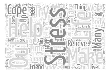 How Can We Cope With Stress text background wordcloud concept Stock Vector - 74468995