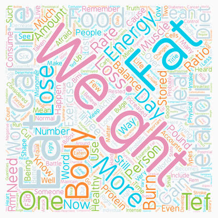 Your Metabolism And Fat Loss text background wordcloud concept Ilustração