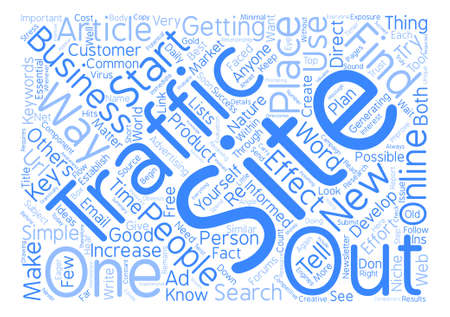The Top Ways To Increase Your Traffic Today text background word cloud concept Ilustração