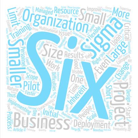 6 シグマ導入で小規模な組織テキスト背景単語雲概念