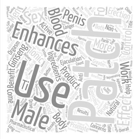 How Male Enhancement Patches Work Word Cloud Concept Text Background