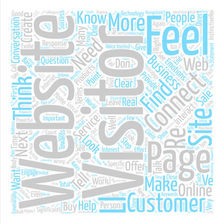 How Does Your Website Make Me Feel text background word cloud concept Illustration