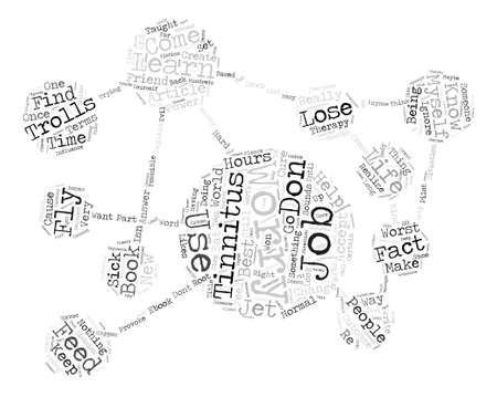 cloud based: Tinnitus Don t Feed the Trolls text background word cloud concept