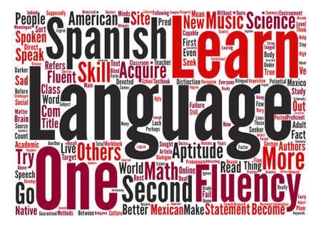 fluency: How Do I Become Fluent In A New Language text background word cloud concept