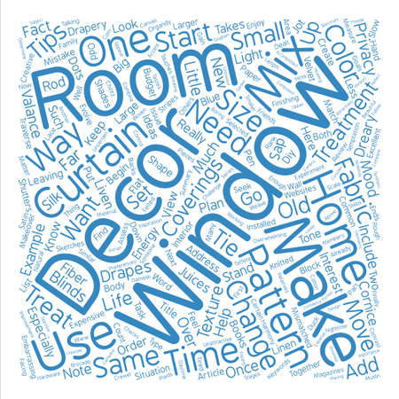 window coverings: Tips For A Window Coverings Makeover text background word cloud concept Illustration