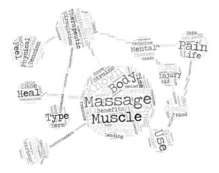 Therapeutic Massage Word Cloud Concept Text
