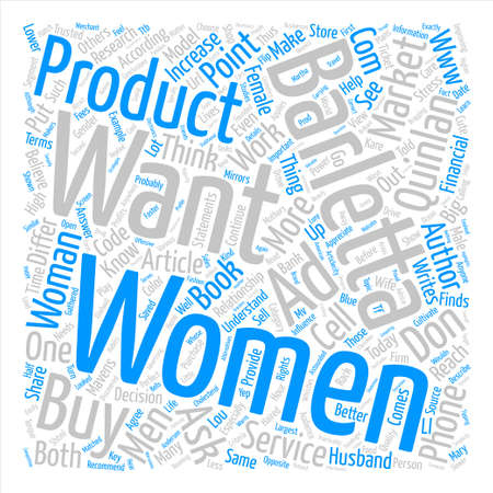 How and Why Do Women Buy text background word cloud concept