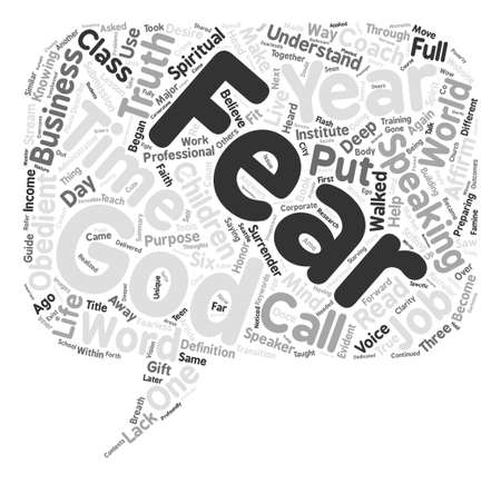 The Truth About Fear Word Cloud Concept Text Background