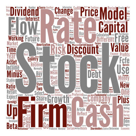 rages: The Value of Stocks of a Company text background word cloud concept