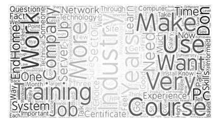 Entonces usted quiere trabajar en el concepto de nube de palabras de fondo de texto de la industria de TI Foto de archivo - 74424946