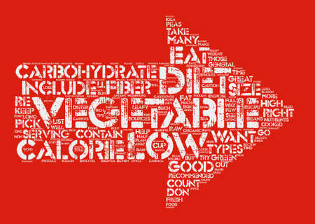 opting: The Right Vegetables For The Dieter Word Cloud Concept Text Background