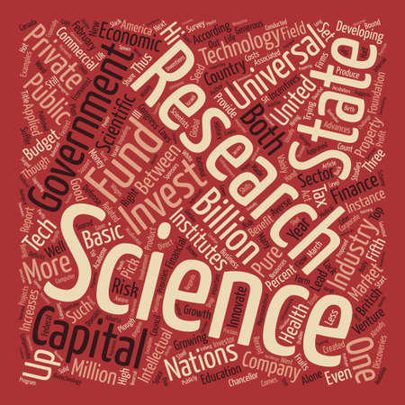budgets: The Wages of Science text background wordcloud concept