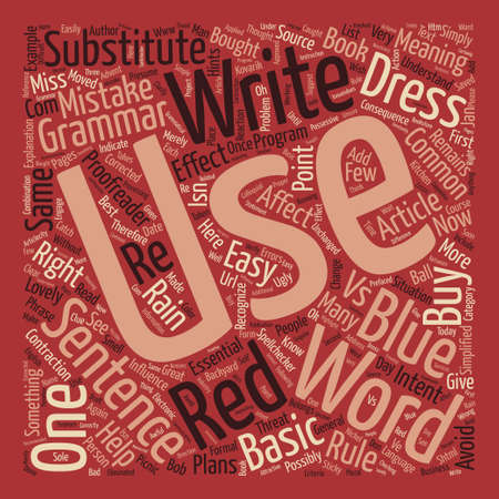 article writing: Some Sticky Grammar Situations or How to Avoid Some Ugly Mistakes text background word cloud concept Illustration