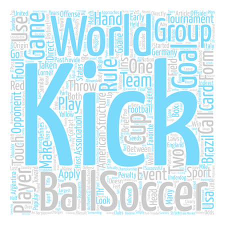 Soccer text background wordcloud concept