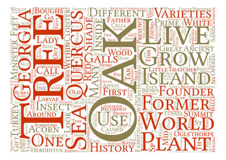 reputed: History Of Oak Trees Quercus Sp Word Cloud Concept Text Background