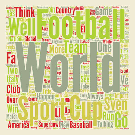 The World Cup Preview text background word cloud concept