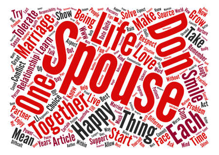 challis: Tips For A Happy Marriage text background word cloud concept