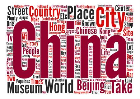 The lowdown on china travel Word Cloud Concept Text Background Illustration