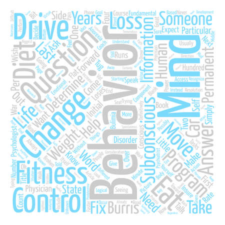 The Subconscious Control Of Your Diet And Weight Loss text background word cloud concept