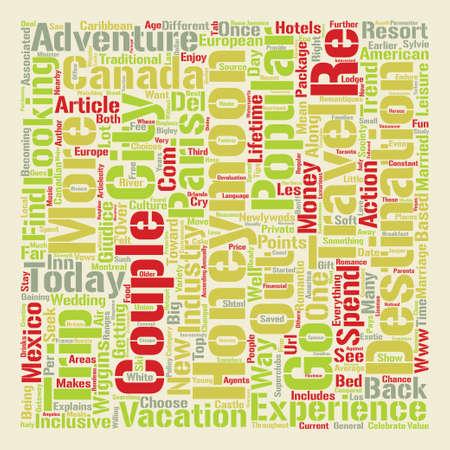 Honeymoon Trends text background word cloud concept