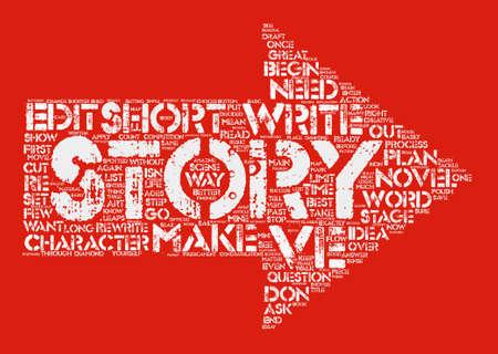 長いと短いのショート ストーリー テキスト背景単語雲の概念