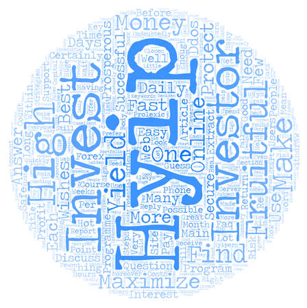 Your Steps To Maximize Your HYIP text background wordcloud concept