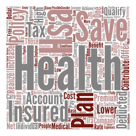 Things You Should Know About Health Savings Account Plans text background word cloud concept