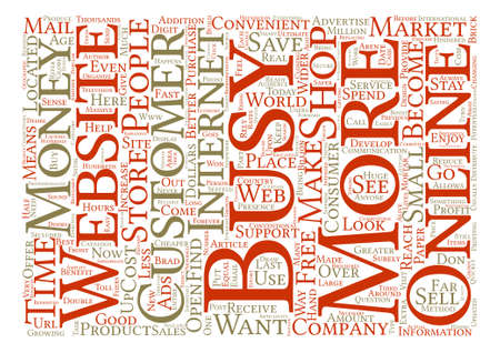 http: How a Business Can Benefit from a Website text background word cloud concept Illustration