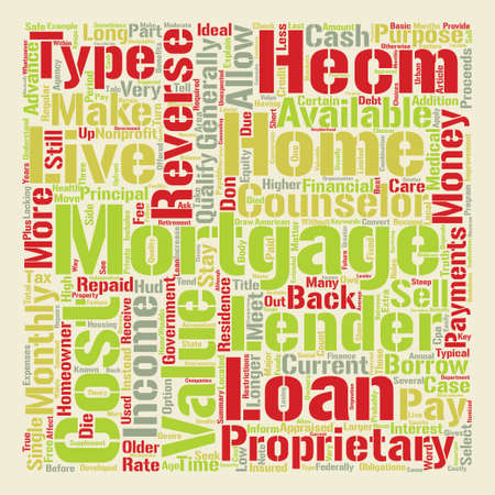 reverse: The Truth About Reverse Mortgages text background word cloud concept Illustration
