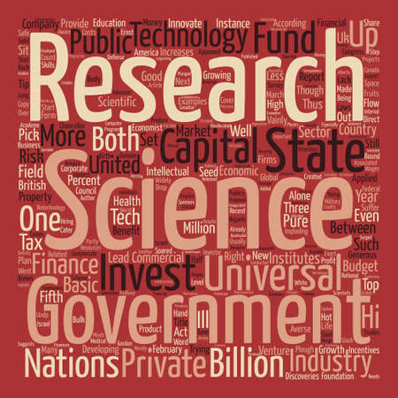 congress: The Wages of Science text background word cloud concept