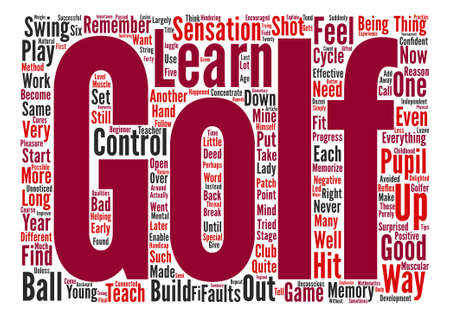 hindering: The Importance Of Control In Golf Word Cloud Concept Text Background