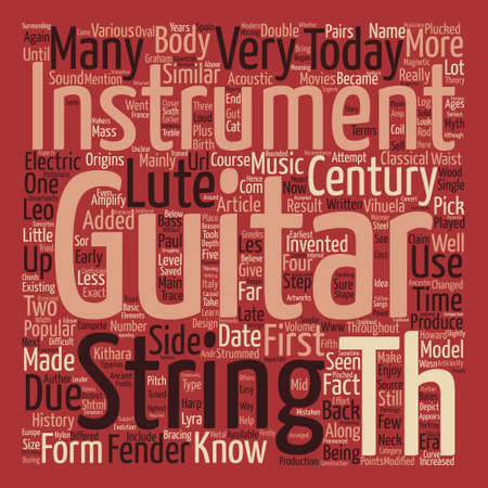 howard: History of the Guitar text background word cloud concept Illustration