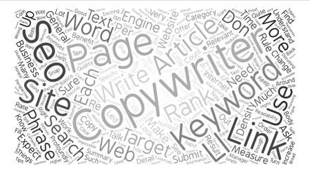 expect: Things to Expect from Your SEO Copywriter text background word cloud concept Illustration