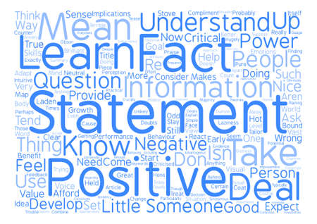 The Power of the Negative Word Cloud Concept Text Background