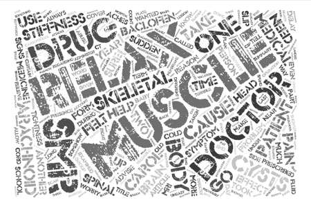 SMRs So Muscles can Relax text background word cloud concept