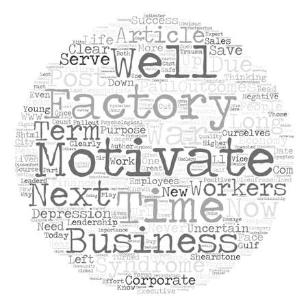The What s Next Syndrome text background word cloud concept