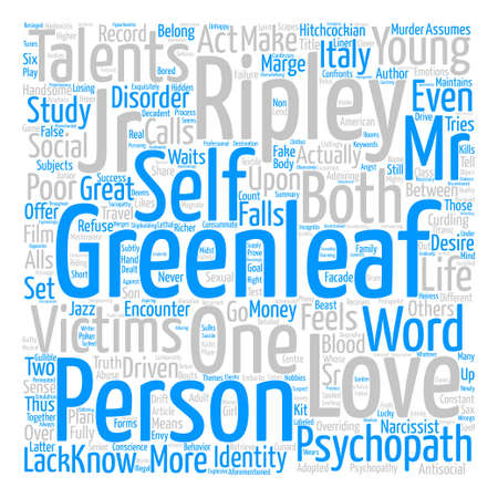 The Talented Mr Ripley text background word cloud concept 向量圖像